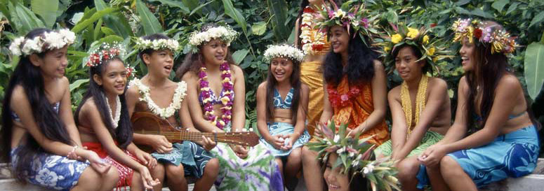 Local children of the Cook Islands